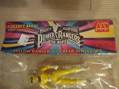 Mighty Morphin Power Rangers The Movie Yellow Ranger with Bear Ninjazord, New, S