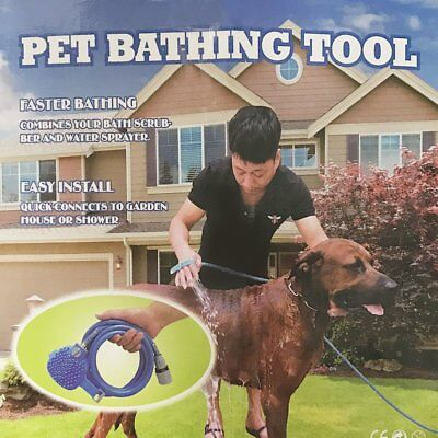 Adjustable Dog Cat Pet Bath Shower Sprayer Animal Bathing Tool Hose Sprinkler UA