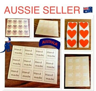 """🇦🇺🎁~""""Hand Made"""" Style Gift Labels/Stickers/Seals~Craft/Favours/Gift Packaging"""
