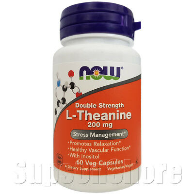Now Foods - Double Strength L-Theanine - 200 mg - 60, 120 & 180 Veg Capsules