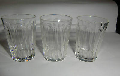 Three Twelve Sided Panel Shot Glasses - Tiny - late 19th /early 20th Century