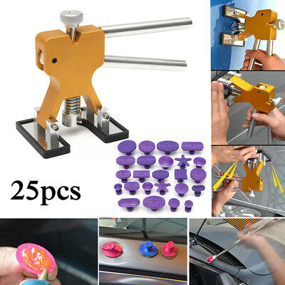 24 PCS PDR Glue Tabs + Lifter Puller Hail Removal Paintless Dent Repair Tools