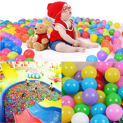 200-1200pcs Ocean Ball Fun Plastic Colorful Kid Secure Baby Pit Swim Pool Toy