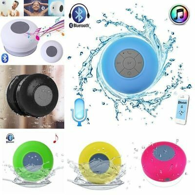 Wireless Bluetooth Waterproof Speaker Handsfree Mic Suction Shower Bathroom 10F7