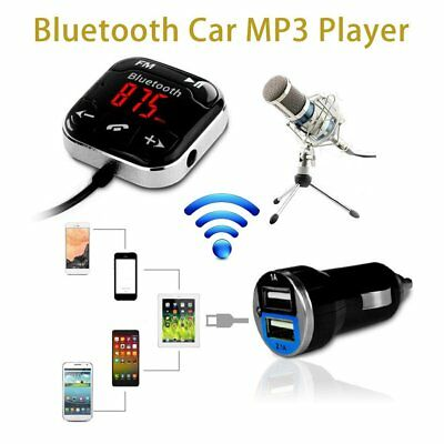 Magnetic LCD Bluetooth 4.0 FM Car Kit MP3 Player Transmitter Remote Hand free FK