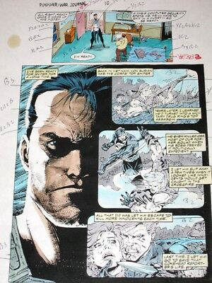 Punisher War Journal 10 Original Hand-Painted Color Guide Art (22 Pages) Jim Lee