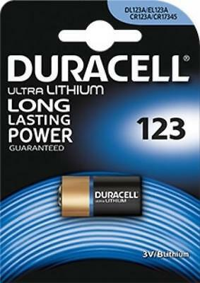 """New Duracell Cr123 Single Pack Ultra Lithium Long Lasting Battery """"dl123B1"""""""