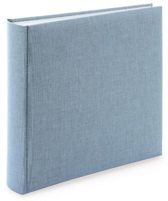 High Quality Blue-Grey Linen Photograph Album. 50 pages / 100 sides