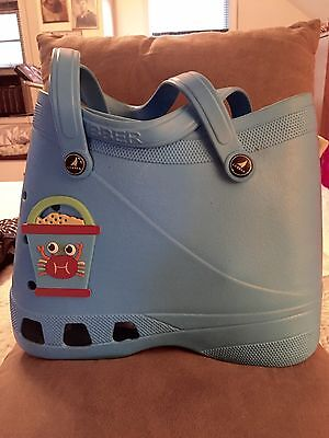 EUC Kids Lubber Shoe Blue Tote/Unisex/Roomy/Washable/Great For Camp!