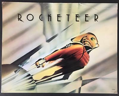 Bill Campbell in full costume Disney The Rocketeer 1991 Title card 1651