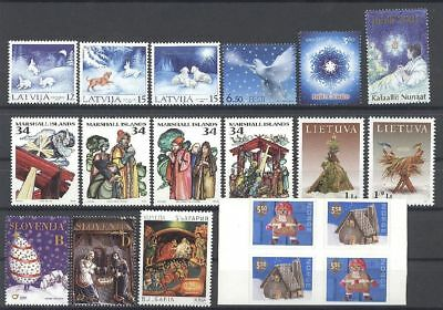 Weihnachten, Christmas - LOT ** MNH 2001