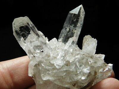 A Small Very Translucent Quartz Crystal Cluster Found in Brazil 51.0gr