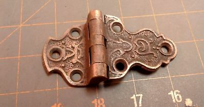 Ice Box Door Hinge Cast Brass Rich Patina Circa 1890 Victorian  Antique