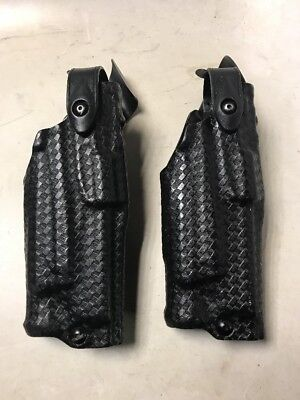 SAFARILAND BASKETWEAVE HOLSTER Glock 34 35 17 22 with tac light 6360  6360-6832
