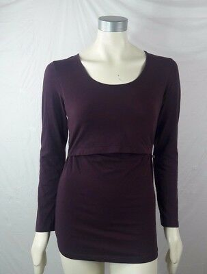 Boob Nursing Wear Womens Top Medium Maternity / Nursing Purple