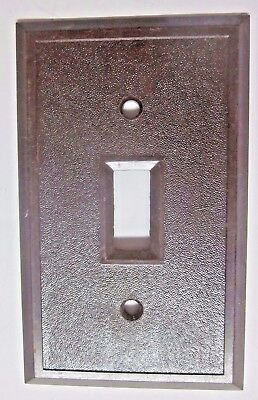 Antique vintage fine pebbled textured brown bakelite switch wall plate cover