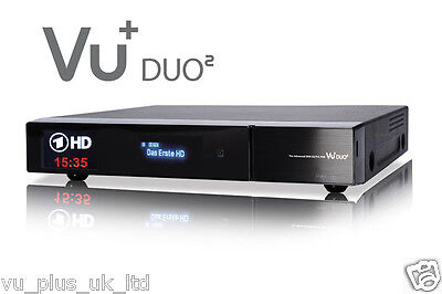 GENUINE VU+ Duo² Full HD 1080p Twin Linux Receiver 1 x DVB-S2 Dual + 750 HDD GB