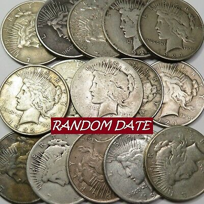 SILVER PEACE DOLLAR Investment Grade Cull FULL DATE NO HOLES $1 US Coin #16664