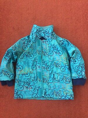 Beauty And The Bib Jacket 6-9 Months Fleece Lined Waterproof Bicycle/ Bike Logos