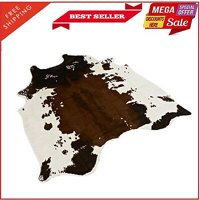 Large Cowhide Rug Cowskin Cow Skin Hide Leather Print Carpet Home Decor Animal
