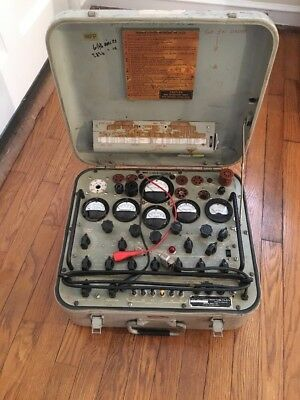 TV-2/U Military Tube Tester Radio Guitar Amp Hickok CBS-Columbia TV-2 Test Set