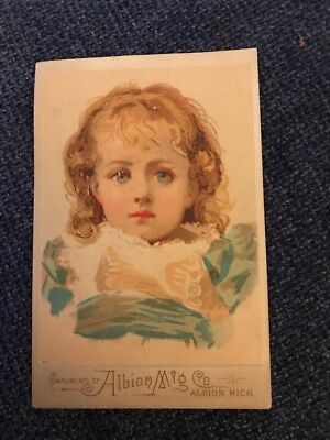 Victorian Trade Card Albion Mfg Co Albion Mich