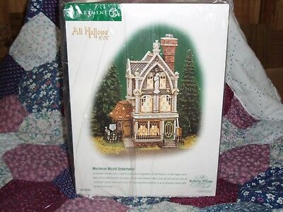 DEPT 56 DICKENS' VILLAGE All Hallows Eve MORDECAI MOULD UNDERTAKER NIB *Read*