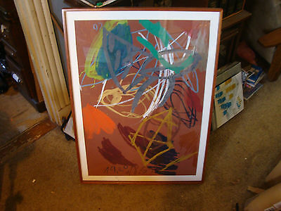 Original Framed PAINTING: Untitled by JAN SMEJKAL 1986 Mixed Media 27 x 38 in.