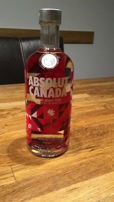 ABSOLUT VODKA CANADA KANADA NEW SEALED NEU VERSIEGELT RARE 750ml 0,75 Liter