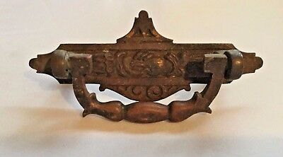 Brass Bronze Door Knocker USED Antique Vintage Ornate Handshake Doorknocker