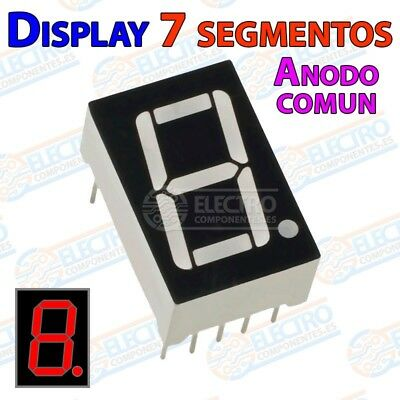 Display 7 segmentos Led ROJO anodo comun 14mm 0,56 pulgadas - Arduino Electronic