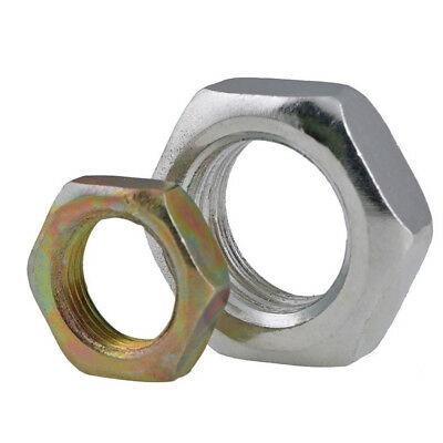 Zinc Plated Carbon Steel Hexagon Full Nuts Fine Thread For Metric Boltsscrews