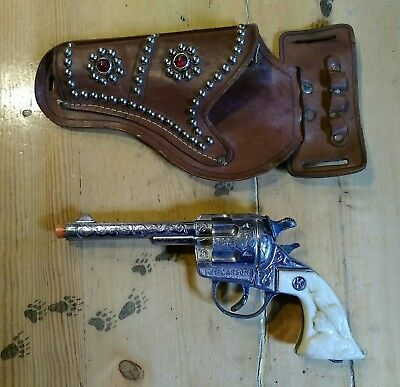 Kit Carson Cap Gun with Leather Holster