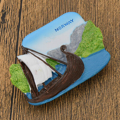 1pc Norway View Resin Travel Souvenir Fridge Magnet Home Decorations Collections