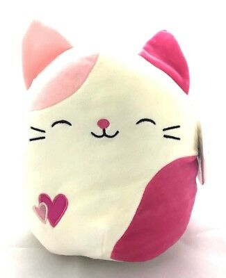 Squishmallows Valentine's Day Themed Pillow Plush Toy (Pink Spotted Cat, 8 inch)