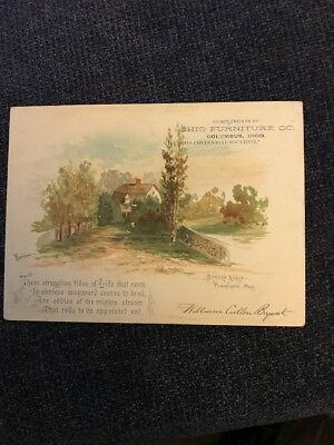 Large Victorian Trade Card Ohio Furniture Co Columbus Oh