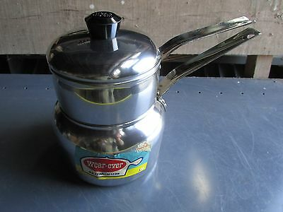 Vintage Ever-Ware Double Boiler 2431 1/2 aluminum NEW OLD STOCK 1950's