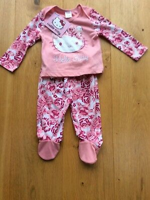 BNWT Hello Kitty pajamas size 3 - 6 months pink