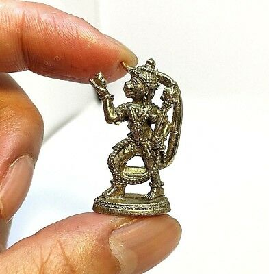 Lord Hanuman God Ramayana Statue Hindu Gold Amulet Love Win All Success!