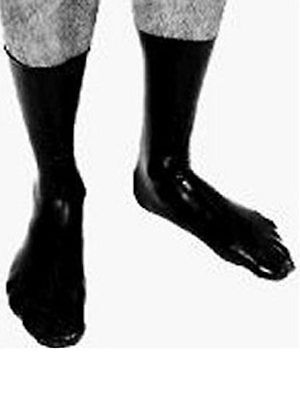 Enge, kurze Latex Socken ca. 28 cm hoch ca. 0,40 mm