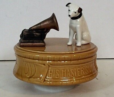 Old VINTAGE RCA VICTOR PHONOGRAPH Radio NIPPER DOG MUSIC BOX His Master's Voice