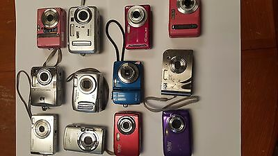 Lot Of 12 Digital Cameras Sold As Is,  Used
