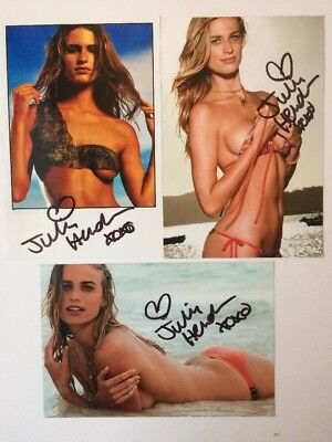 Julie Henderson Autographed Photo Lot signed Sports Illustrated Swimsuit