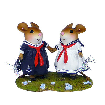 SPARKLE SISTERS by Wee Forest Folk, WFF# M-528, Retired Patriotic Mice