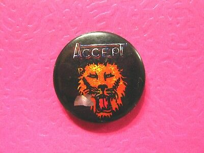 Accept Prismatic Vintage Badge Button Pin Not Shirt Patch Poster Cd Lp Uk Made