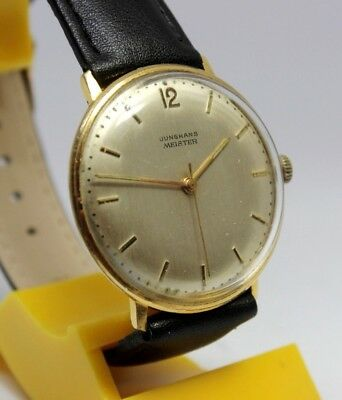 Beautiful Rare German Junghans Meister Max Bill Vintage Wristwatch From 1960's