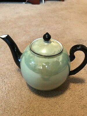 ART DECO J. Rieber Co. BAVARIA Teapot Luster Green/Black