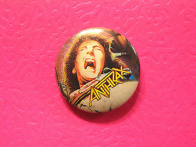 New Anthrax Button Pin Badge Not Ccd Poster Patch Shirt Lp Uk Import