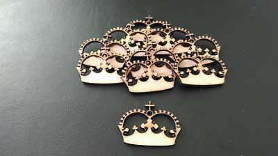 Wooden Mdf Crown shapes decoupage craft various sizes CFE10