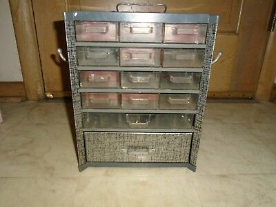 Vintage Metal multi Drawer Small Parts Cabinet Storage Organizer Industrial